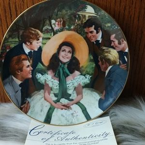 Scarlett & Her Suitors Collector Plate.